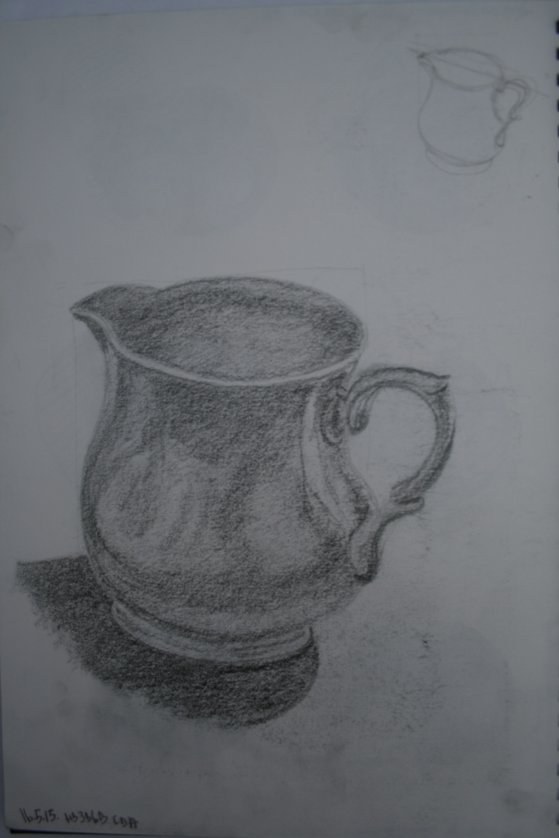 Jug hb 3b and 6b pencil 2a